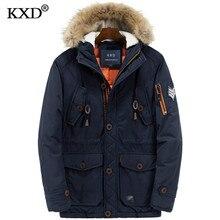 2017 New Winter Coats Parkas Jacket Men Hooded Long Thick Warm Windproof Fur Collar Men 39