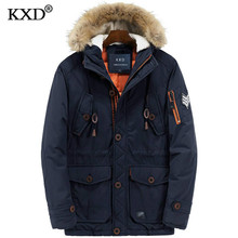 2017 New Winter Coats Parkas Jacket Men Hooded Long Thick Warm Windproof Fur Collar Men's Down Jacket Parkas Outwear Male