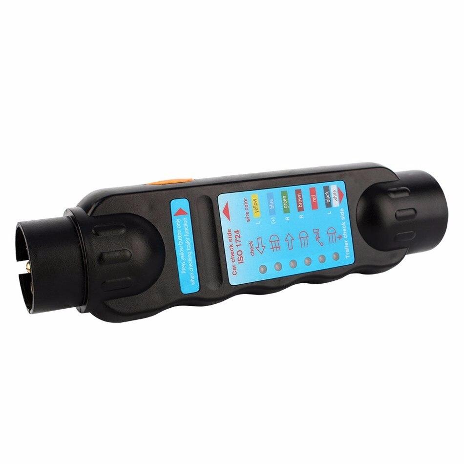 Durable 12V 7 Pin Car Truck Trailer Plug Socket Tester Wiring ...