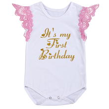 Baby Girls Birthday Clothes Cake Smash Outfit Cute Letter Print Romper Bodysuit Photography Props Casual Sleeveless Baby Romper girls sheep print ringer romper