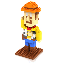 LOZ 9128 Toy Story Series Woody Police Officer Educational Diamond Bricks Minifigures Building Block Minifigure Toys Gift