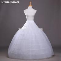 High Quality White Ball Gown 6 Hoops CRINOLINE PETTICOAT SKIRT Full SLIP For Wedding In Stock