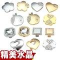Mango mango de Plata de oro de oro/plata color tirones del cajón de aleación de zinc muebles gabinete maneja perillas de cristal