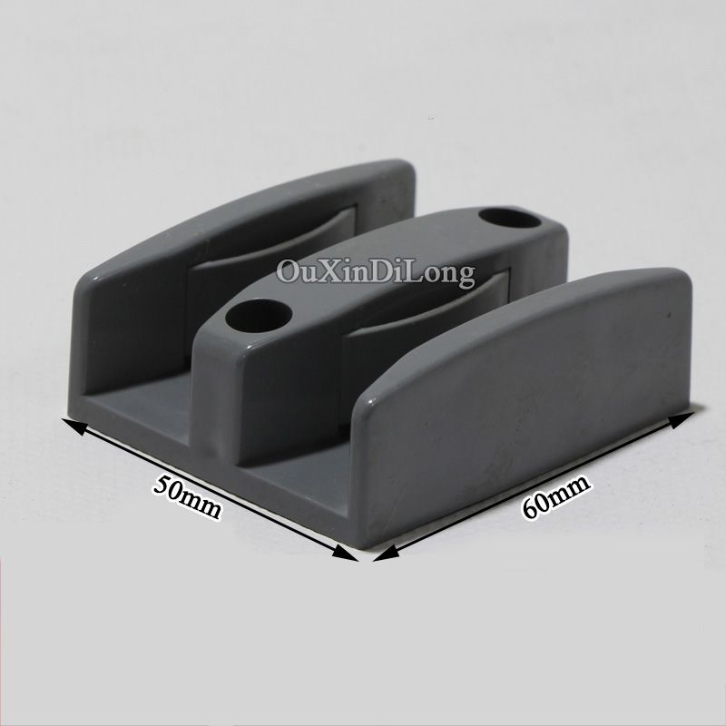 Brand New 4pcs Shower Bathroom Door Stopper Floor Bottom Guide Block