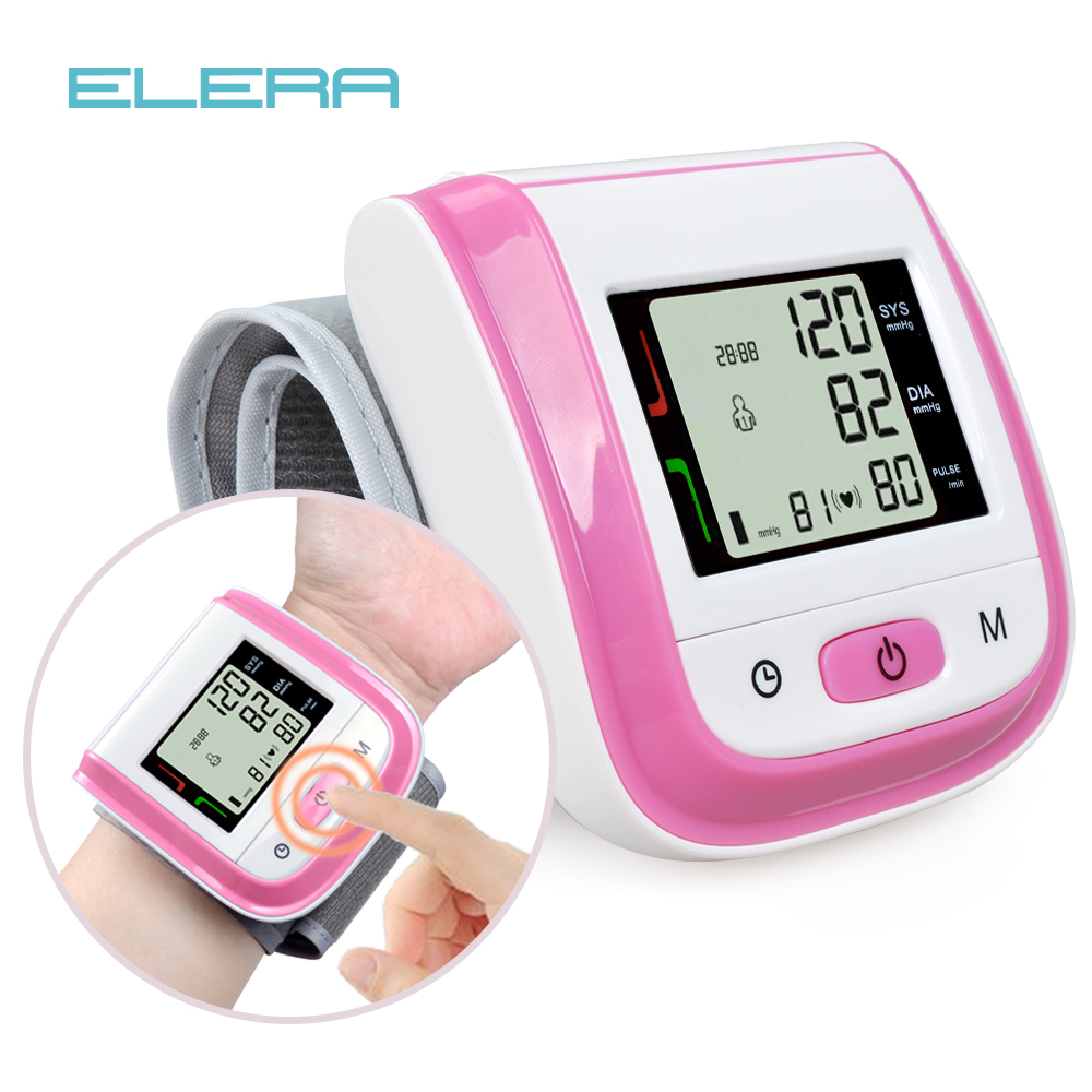 Health Care Automatic Wrist Blood Pressure Monitor Digital LCD Wrist Cuff Blood Pressure Meter Gaugepressure Measuring Tonometer