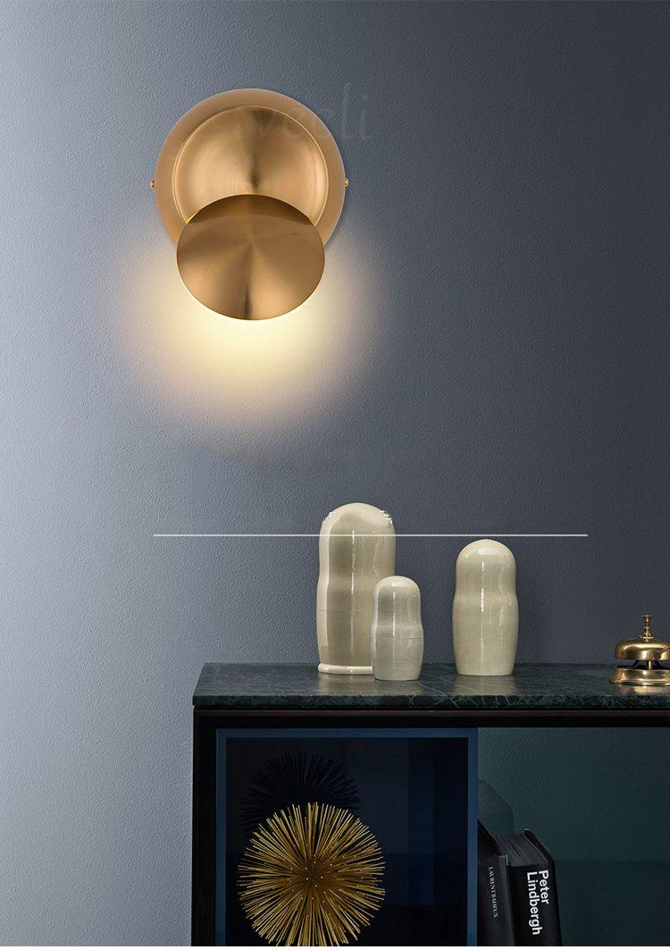 5 w led lâmpada de parede ouro