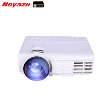 Noyazu Mini Android LED Proyector 1800 Lúmenes de Cine En Casa TV soporte Full HD 1080 p reproductor Multimedia de Vídeo Hdmi LCD 3D Beamer