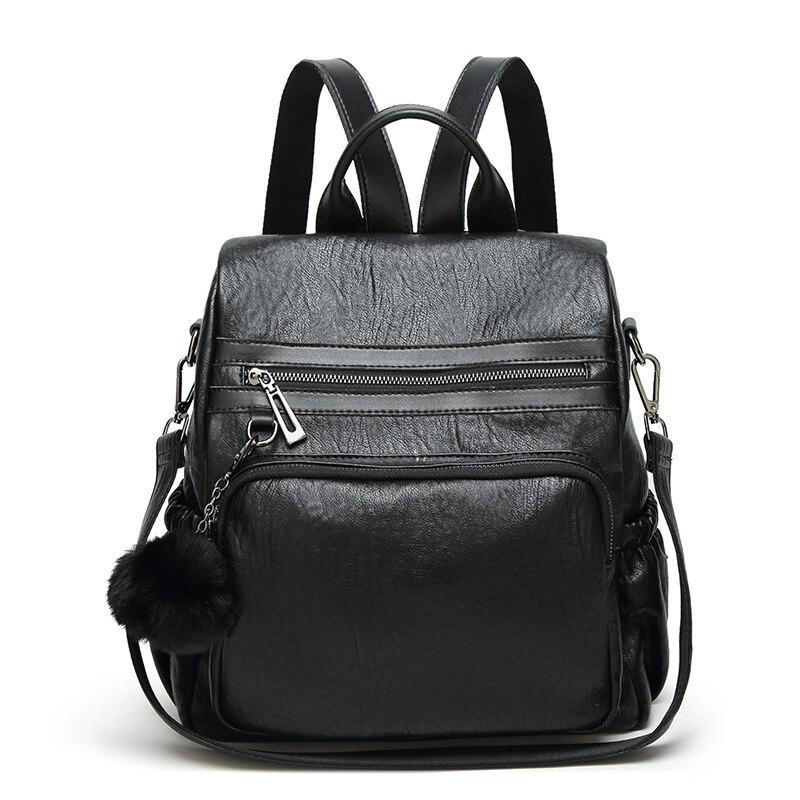 c582885e5702 Новые модные женские туфли кожаный рюкзак дизайн Для женщин рюкзаки  Повседневное женские сумки роскошная женская кожаная