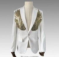 New nightclub bar men's sequins suit groom groomsmen married men's dance clothes bar blazer