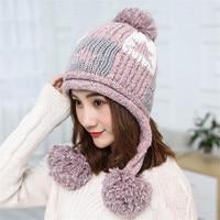 XIANXIANQING Novelty Lady S Beanie Cap Winter Solid Hats For Women Knitting Hats Womens Star Pattern