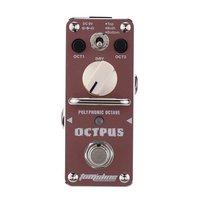 AROMA AOS 3 Octpus Electric Guitar Pedal Polyphonic Octave Guitar Effect Pedal Mini Single Effect Guitar