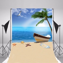 цены Sea Beach Photography Background Vinyl Backdrops For Photography Children Backgrounds For Photo Studio Fond Photographie