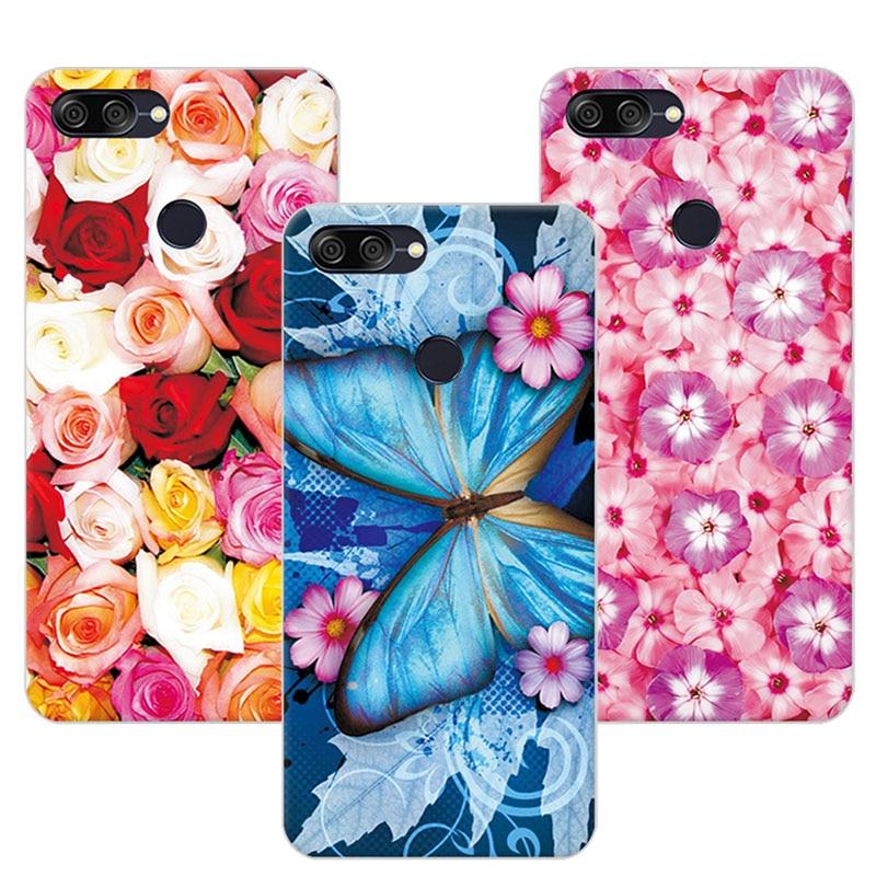 Floral Art Painted Flower Phone Cases For Asus Zenfone Max Plus M1 Case Cover Fundas For Asus Zenfone Max Plus M1 ZB570TL X018D