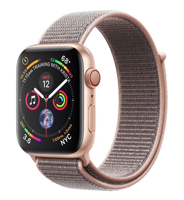 Apple Watch Watch Series 4, OLED, Touchscreen, GPS (satellite), Mobile, 36.7 g, Gold