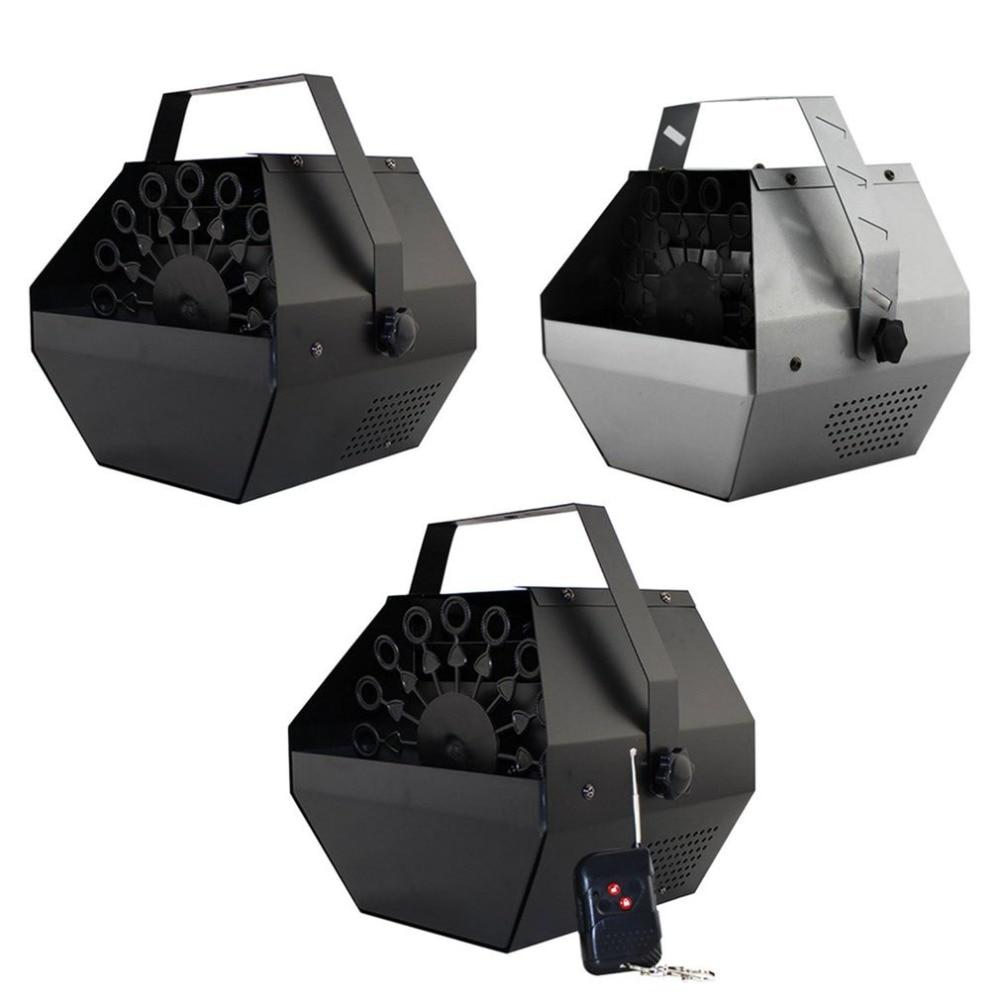 Novo Mini 220 V 25 W Efeito de Metal Automática Fabricante de Bolha Máquina de Bolha Fase Máquina de Ventilador Para A Fase Festa de Casamento dropshipping