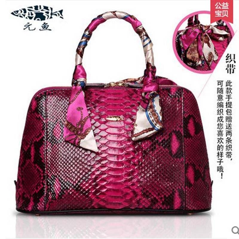 yuanyu real Python leather women handbag leather handbag women fashion women shell bag serpentine grain women handbag