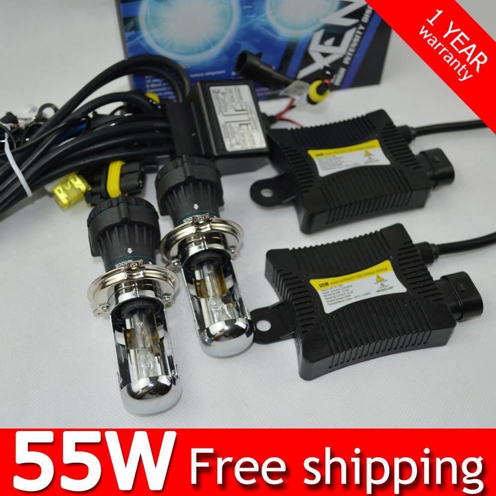1set 55w H4 55W HID Hi lo Bixenon kit H4 flexible bi xenon h4 flexible high