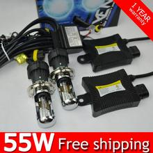 1set 55w H4 55W HID Hi/lo Bixenon kit H4 flexible bi xenon h4 flexible high low dual beam  4300k 5000k 6000k 8000k 10000k 12000k