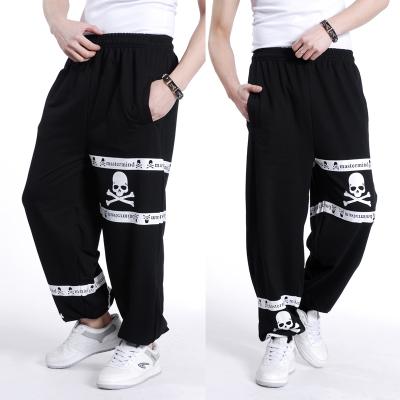 Frete grátis plus size XL-5XL primavera dos homens hiphop calças calças de algodão elástico da cintura outono sweatpants soltas extra grande dos homens