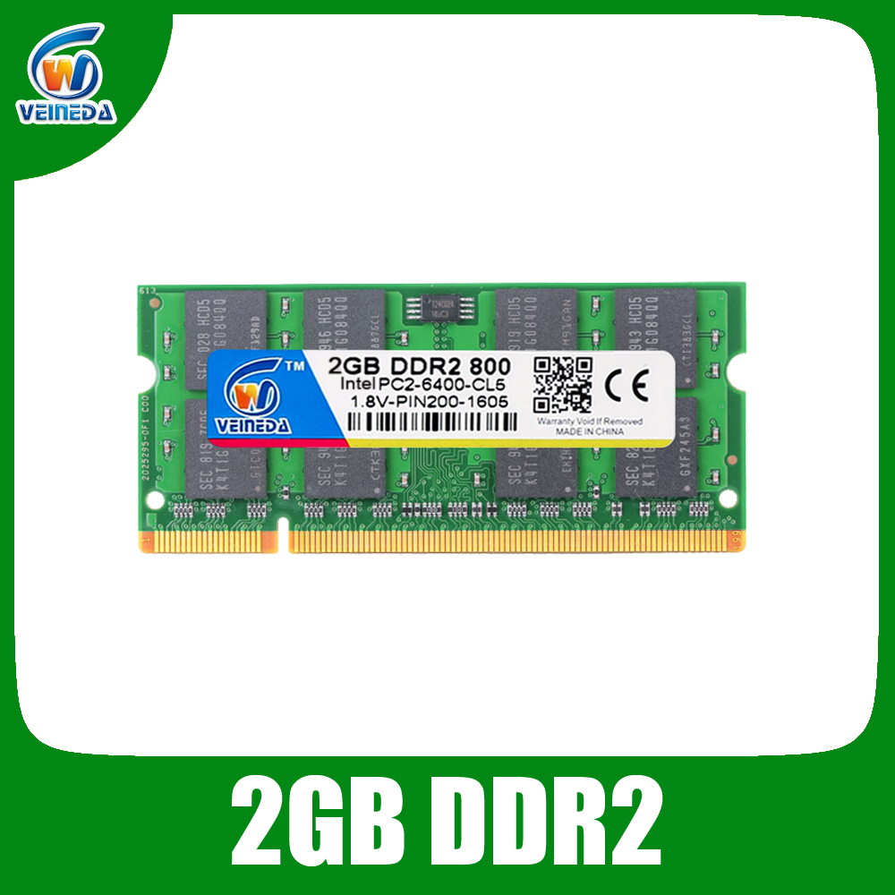 ddr2 2gb 800 Memoria Ram Sodimm ddr 2 Compatible Intel and AMD 667 533 Mobo