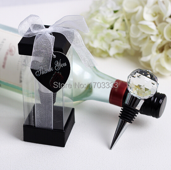 Wedding Wine Bottle Gifts: Free Shipping Personalized Creative Crystal Ball Metal
