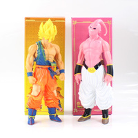 44cm Dragonball Son Goku Majin Buu PVC Action Figure Model Toy Hot Anime Dragon Ball Z Super Saiyan Kakarotto Son Goku Majin Buu