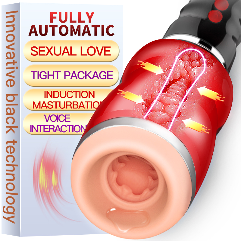 New Male Masturbator Electric Real Oral Sucks Throat Clip Suction Sex Machine Vibration Sex Moan Interaction