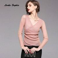 1pcs Ladies Plus Size Blouses Tops 2018 Summer Bright Silk Mesh Mosaic Hollow Primer Shirt Women
