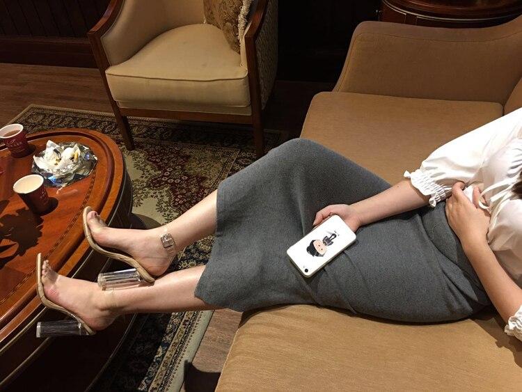 As Pvc Chunky Cheville Robe Boucle Libre Transparent Cut Bateau D'été Sandales Talons De Courroie Élégant Picture 2018 out Femmes Chaussures UwpxXq