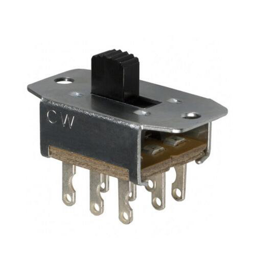 1PCS Panel 3PDT 3A 125V ON/ON 2 Position 3A (AC) 500mA (DC) Slide Switch 9 Solder Lug Pin GF-161-3011 1 pc new red 9 pin on off on 3 position mini toggle switch ac 6a 125v 3a 250v ve521 p