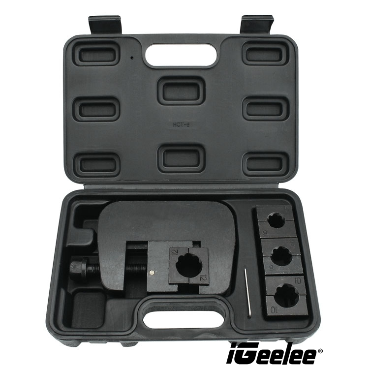 iGeelee Manual A C Hose Crimper kit Barb Ferrule fittings AC repair tools Handheld Hose crimping