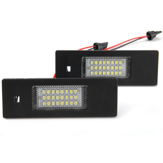 Car Auto License Plate Lamp with 12V 24 LEDs Suitable for BMW 1 Series E81 E87 E63 E64 – 2pcs Low Power Consumption Easy to Use