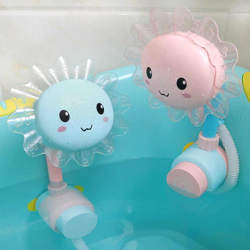 Vui vẻ Hoa Hướng Dương Cho Bé Infantil Sen Tắm Vòi Tắm Cho Bé Vòi Xịt Bé Chơi Bơi Đồ Chơi Phòng Tắm Mùa Hè Tắm Recien Nacido