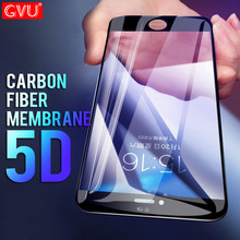 GVU 5D Full Carbon Fiber Tempered glass For iphone 6 7 8 Plus glass film Screen Protector For iPhone X 8 7 6 plus Glass Cover