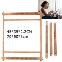 Factory price wood tapestry weaving machine Hand made looms DIY square frame knitting machine with Smooth surface Beechwooden