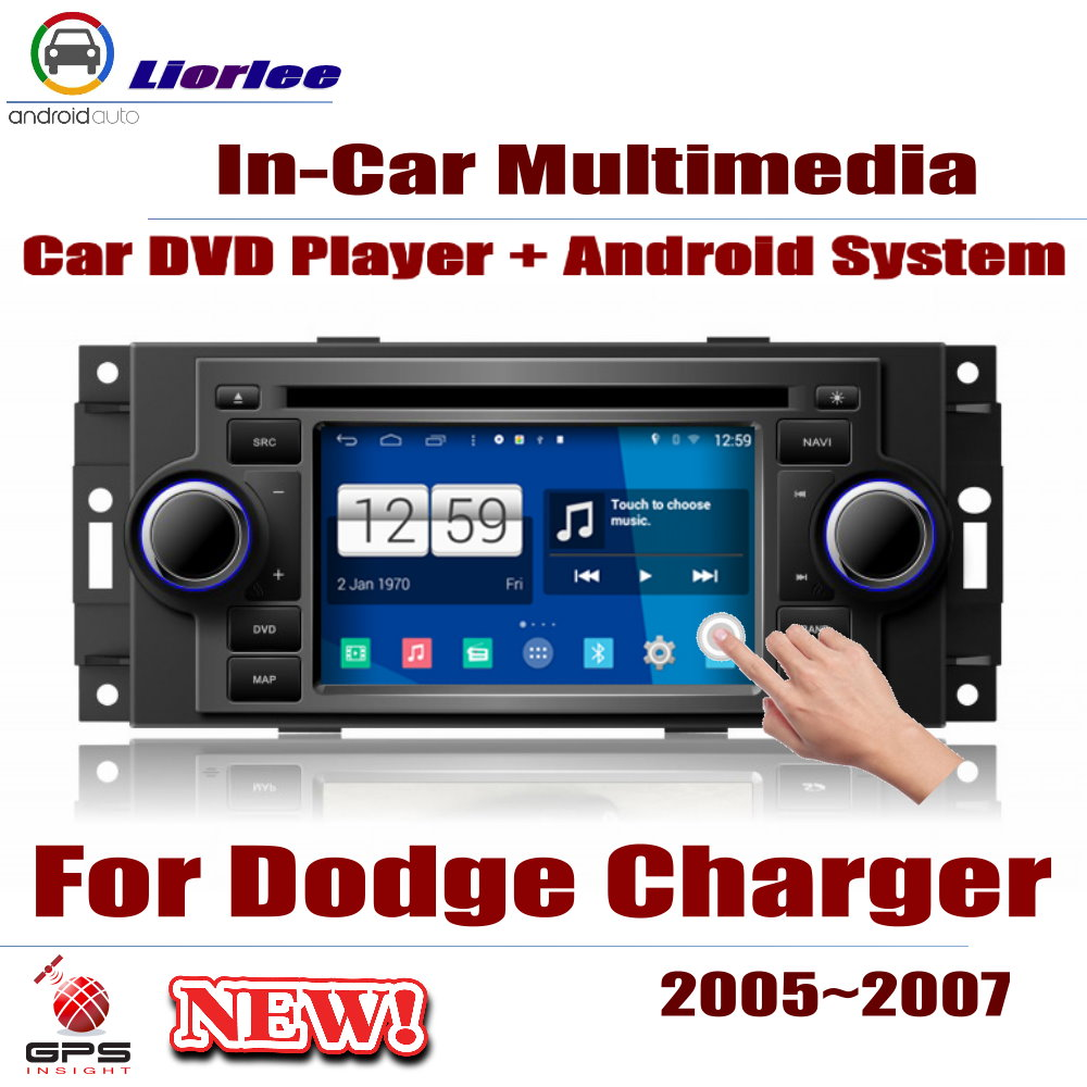 Car Radio DVD Player GPS Navigation For Dodge Charger 2005~2007 Android HD Displayer System Audio Video Stereo In Dash Head Unit