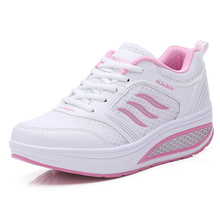 Buy Breathable Mesh Women Shoes Flat Platform Shoes Woman 2019 Spring/Autumn Shallow Fashion Sneakers Low-cut Shallow High Quality directly from merchant!