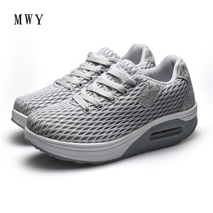 Image 2 - MWY Women Breathable Mesh Casual Shoes Height Increased Shoes Outdoor Walking Sneakers Zapatillas De Mujer Lace Up Women Shoes