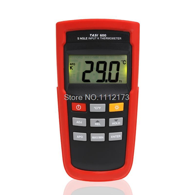 New arrival K TYPE Thermocouple Probe Thermometers TASI-600 -200 ~1372C Digital Thermometer Temperature Measurement meter ht 9815 digital k type thermocouple thermometer thermocouple probe sensor industrial temperature tester 200c 1372c dual channel
