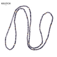 KELITCH Jewelry Good Quality New Fashion Long Chain Strand Mulitcolor Beach Necklace For Travel Gifts Nice