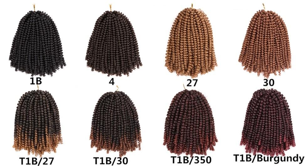 Belleza de oro 8 pulgadas crochet trenzas jamaicano Bounce trenzado ...
