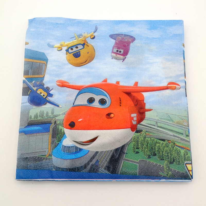 60pcs lot Boys Favors Superwings Theme Napkins Baby Shower Superwings Decoration Tableware Set Happy Birthday Party Cups Plates in Disposable Party Tableware from Home Garden