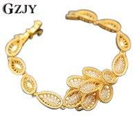 GZJY Unieke Stijl Mode Vrouwen Crystal Sieraden Goud Kleur AAA Zircon Armband Voor Vrouwen 2 kleuren