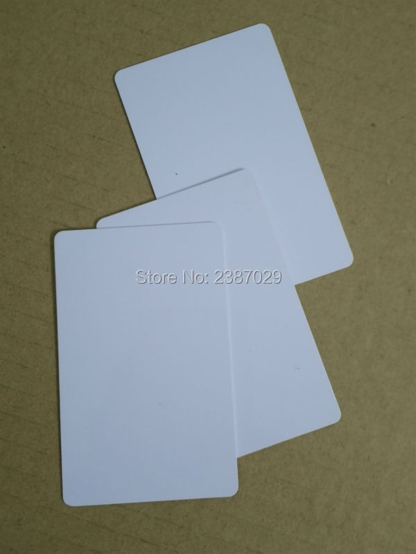 CR80 Size 125KHZ RFID Inkjet PVC Blank Chip Card with ID Chip for Printer 230pcs lot inkjet printable blank pvc card for epson printer canon printer credit card size