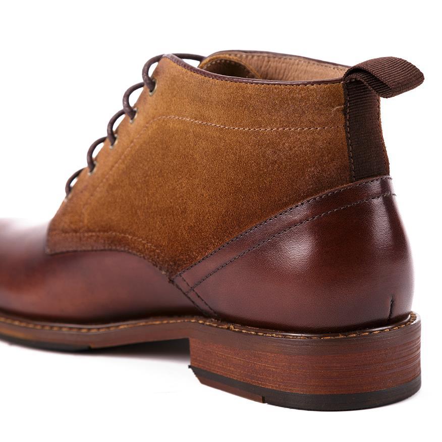 Hechos Hombre Retro Black Zapatos Hombres Mens Marca A Lujo Ocio Mano Tobillo Costura Martin Moda brown Cuero Blue Botas Genuino De qzfwOTvS