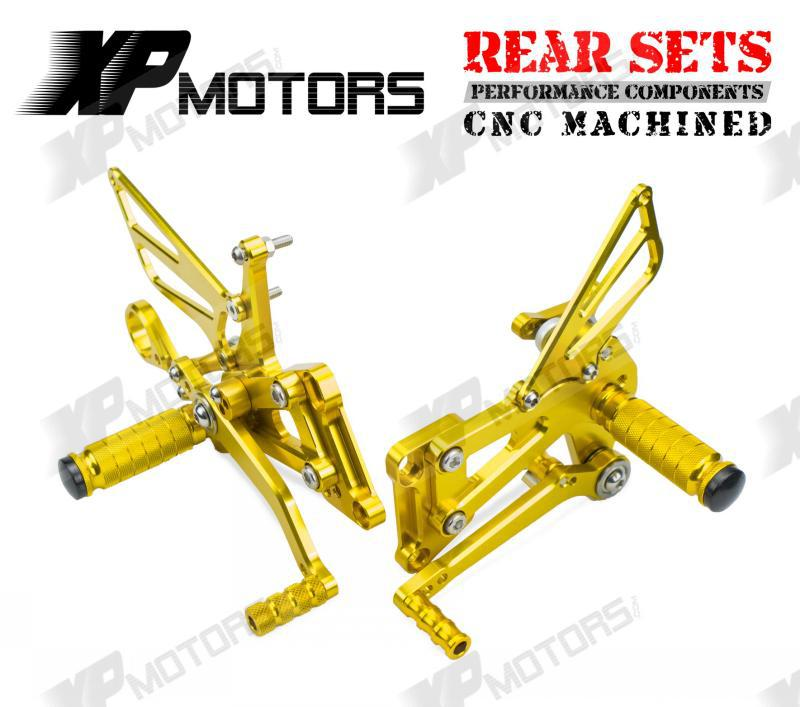 Gold CNC Racing Foot pegs Adjustable Rearset Rear Sets For BMW S1000RR 2009 2010 2011 2012 2013 2014 cnc racing rearset adjustable rear sets foot pegs fit for yamaha yzf r1 2009 2010 2011 2012 2013 2014 red