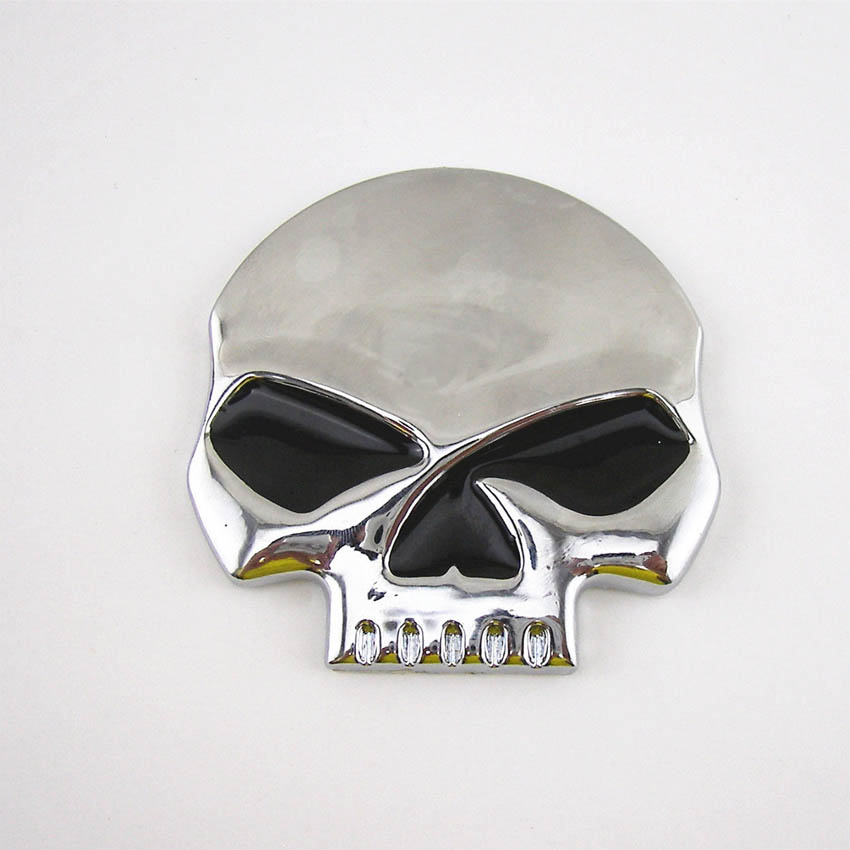 3D Metal Chrome Devil Skull Head Emblem Sticker Badge Demon For Harley-Davidson alzrc devil 380 fast tbr super rc helicopter kit aircraft rc electric helicopter 380tbr frame kit power driven helicopter drone