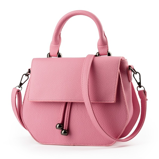 Women Fashion PU Leather Handbags  Fresh Style Shoulder Bag Lady Messenger Casuall Crossbody Korean Beading Small Size Shell Bag