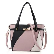 High Quality Women Handbag Shoulder Bag Patchwork Messenger Hobo Tote Leather Ladies Crossbody Purse Satchel
