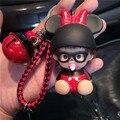 Lindo Mickey Minnie Mouse Decoración Campana Monchichi Kiki Sleutelhanger Llavero Llavero llavero Mujeres Bolsa Encanto Porte Clef M191